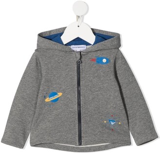 Emporio Armani Kids Astronaut Print Bomber Jacket