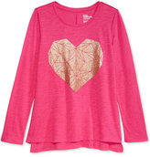 Epic Threads Geometric Heart Graphic-Print T-Shirt, Big Girls (7-16), Only at Macy's