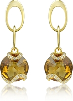 Tagliamonte Incanto Royale Citrine and Diamond 18K Gold Earrings