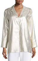 Shamask Long-Sleeve Metallic Tunic, Gold