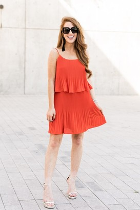 Gibson Tara Pleated Popover Dress