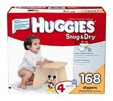 Huggies Snug 'n Dry Diapers, Step 4 (22-37 lbs), 168 ct.