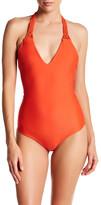 Mikoh Mediterranean V-Neck One-Piece Swimsuit
