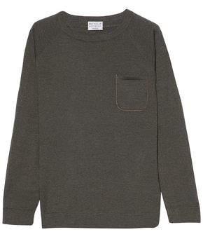 Brunello Cucinelli Bead-embellished Cashmere-blend Top