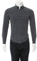 Band Of Outsiders Windowpane Plaid Shirt