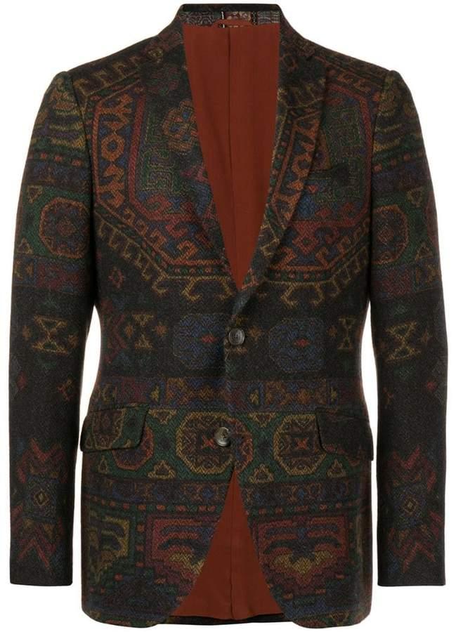 Etro patterned button blazer