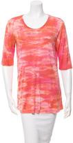 Raquel Allegra Printed Half-Sleeve Top w/ Tags