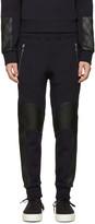 Neil Barrett Navy Quilted Biker Lounge Pants