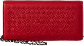 Bottega Veneta Intrecciato Leather Continental Chain Wallet