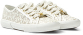 Michael Kors White Branded Perforated Trainers