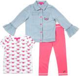 Betsey Johnson Girls' 3Pc Jacket Set