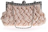 TopTie Woven Style Satin Evening Bag / Clutch, Gift Idea