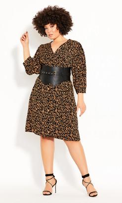 City Chic Geo Animal Dress - animal