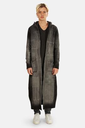 Avant Toi Knitted Long Zip Hoodie