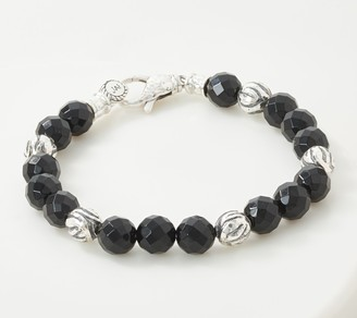 JAI Sterling Silver Gemstone Tiger Stripe Bracelet