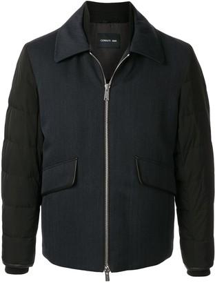 Cerruti Quilted Sleeve Colour-Block Jacket