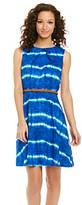 Amy Byer Tie Dye Print Belted Dress