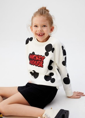 MANGO Mickey Mouse sequins sweatshirt