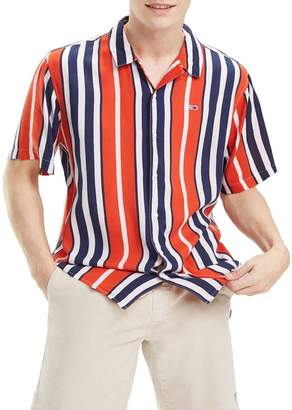 Tommy Jeans Relaxed Fit Stripe Camp Shirt