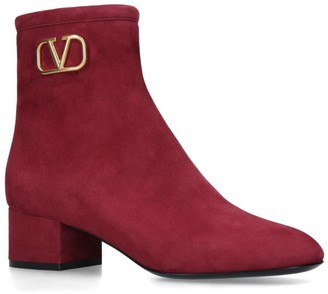 Valentino Garavani Suede Vintage Boots 45