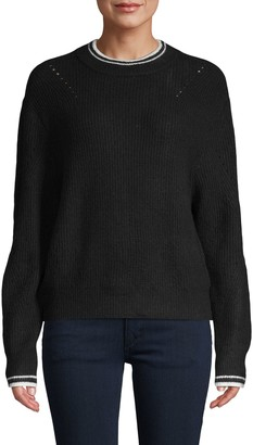 John & Jenn Stewart Stripe-Trim Sweater