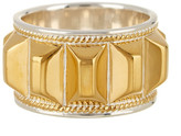 Anna Beck 18K Gold Plated Sterling Silver Faceted Bar Ring