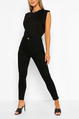 boohoo High Waist Stretch Skinny Jean