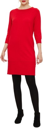 Phase Eight Seam Knit Dress, Red