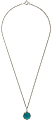 Isabel Marant Silver and Blue Alto Necklace
