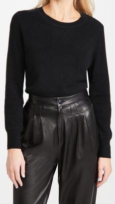 Naadam Long Sleeve Crop Cashmere Pullover