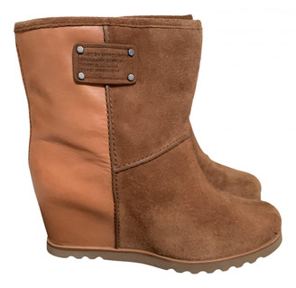 Marc by Marc Jacobs Camel Leather Boots