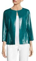 Lafayette 148 New York Keiran Lacquered Leather Jacket