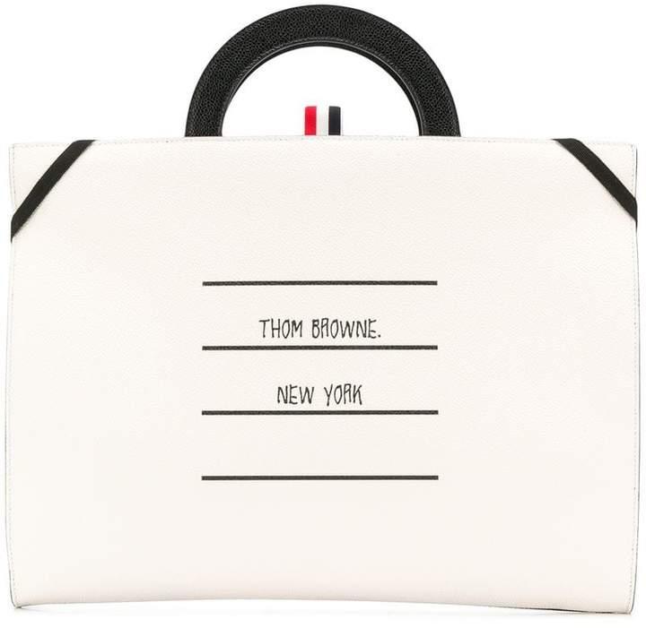 Thom Browne folder-style tote bag