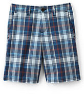 Classic Boys Husky Plaid Cadet Shorts-Rich Papaya