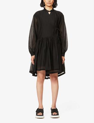 Designers Remix Sonia wrap-over woven mini dress
