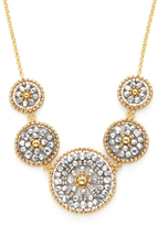 Miguel Ases Beaded Disc Bib Necklace
