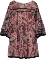 Chloé Printed Silk-georgette Mini Dress - Antique rose