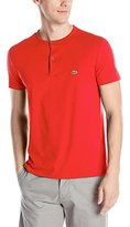 Lacoste Men's Short Sleeve Henley Jersey Pima Regular Fit T-Shirt