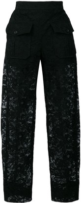 Chloé sheer lace trousers