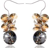 Alilang Black Diamond-Tone Magnificent Cluster Burst Swarovski Crystal Element Earrings