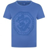 Paul & Joe Boys Blue Embroidered Dragon Top