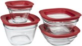 Rubbermaid Glass Food Storage Container Set 8pc w/ Easy Find Lid