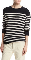 Vince Engineer-Striped Textured Pullover