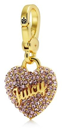 Juicy Couture Pink Pave Heart Charm