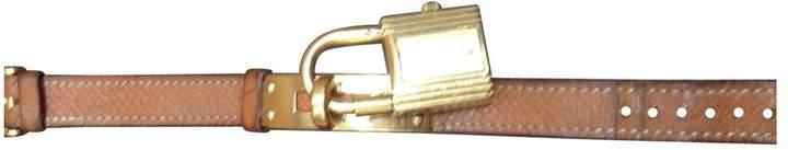 Hermes Vintage Kelly Camel Steel Watches