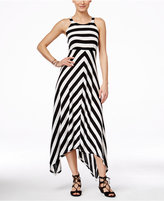 INC International Concepts Petite Striped Handkerchief-Hem Dress, Only at Macy's