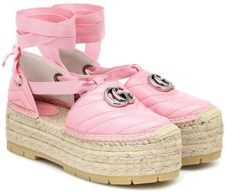 Gucci Double G leather espadrille sandals