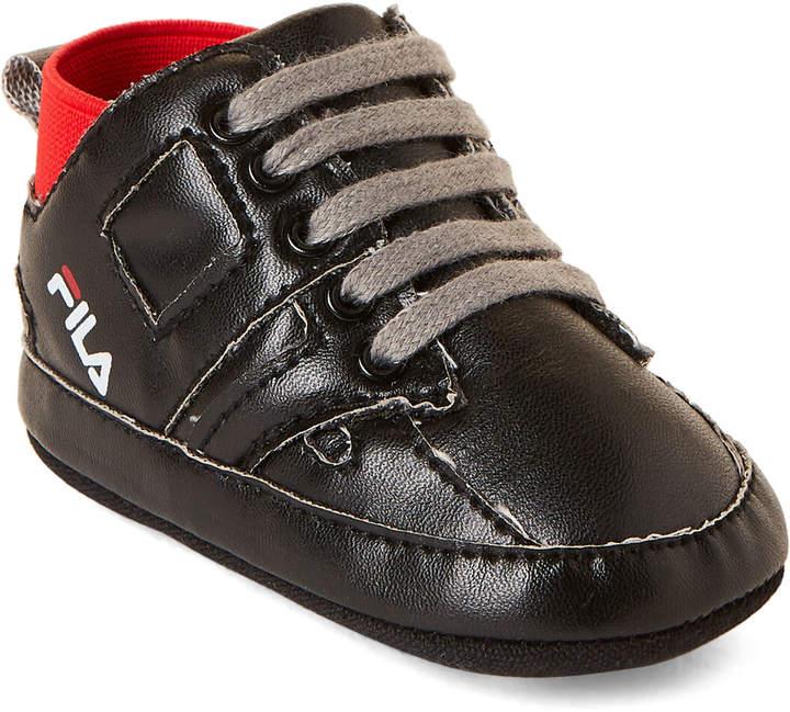 Fila Infant Boys) Black High-Top Sneakers