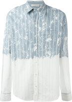 Faith Connexion contrast striped shirt - men - Cotton - XS