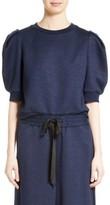 ADAM by Adam Lippes Women's Jersey Puff Sleeve Sweatshirt